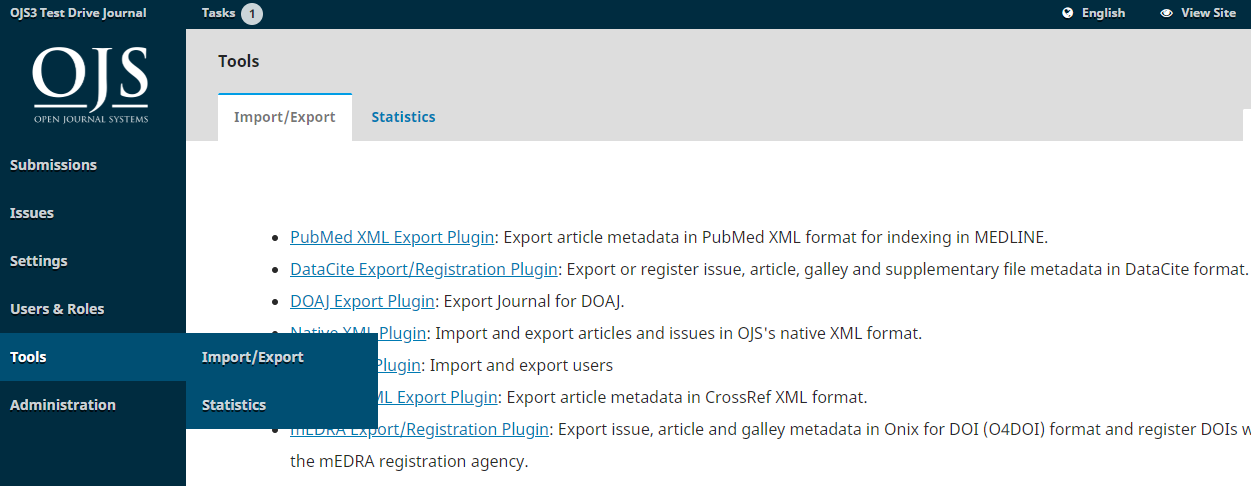 Data Import and Export