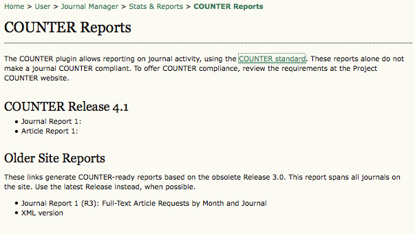 COUNTER Reports