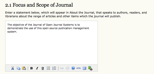 Focus and Scope of Journal