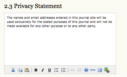 Privacy Statement