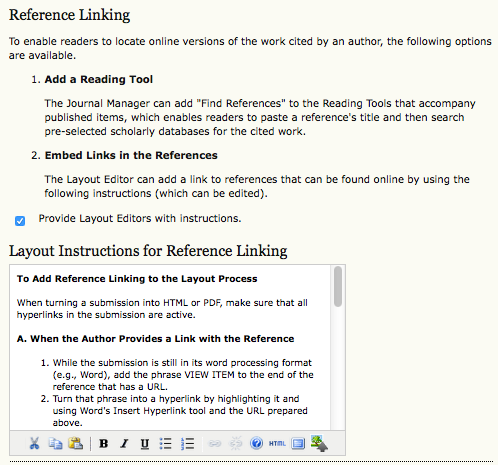 Reference Linking