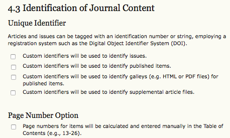 Identification of Journal Content