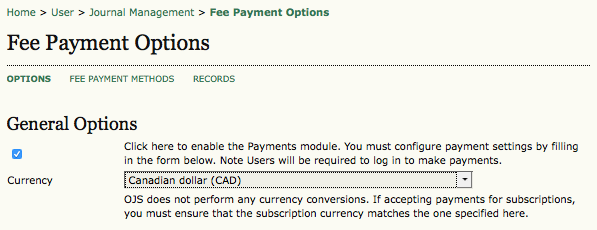 Fee Payment Options