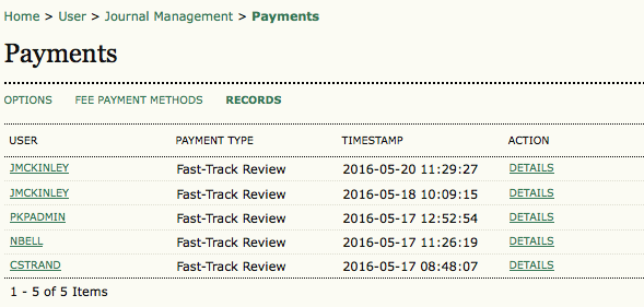Payment Records