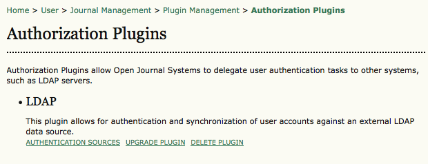 Authorization Plugins