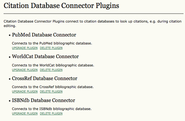 Citation Database Connector