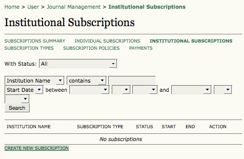 Institutional Subscription
