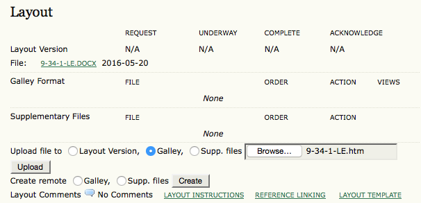 Upload File to Galley