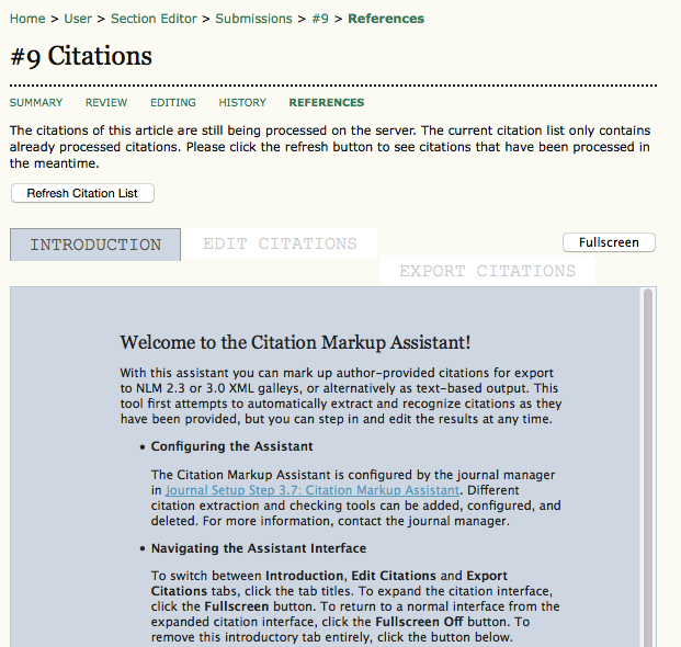 Citation Markup Assistant: Introduction