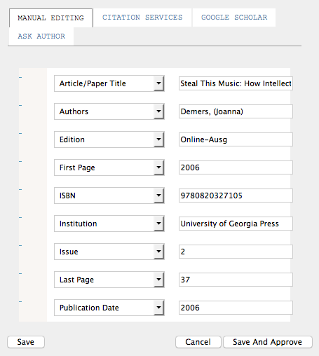 Citation Markup Assistant: Improving Citations