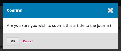 Confirm submission screen